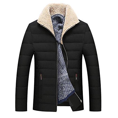 M noir ZHUDJ l'hiver Veste Rembourrée De Coton pour Hommes Hommes Slim Veste Rembourrée De Coton d'hiver_