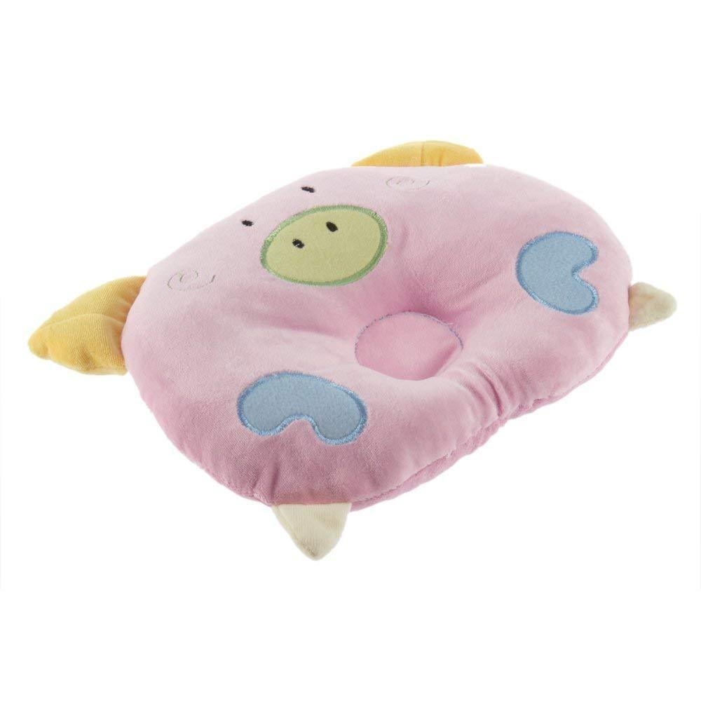 Soft Cotton Piggy Pig Shaped baby newborn Infant Toddler Sleeping Support Pillow Prevent Flat Head Flathead GIFT Pink