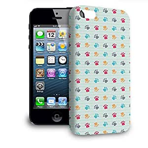 Phone Case For Apple iPhone 5 - Paw Prints Glossy Hardshell