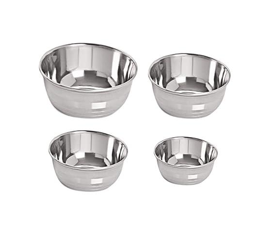 Neelam Stainless Steel 5 22G Prem Vati, 150 ml, Silver, Set of 6