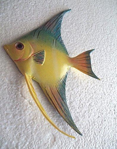 Tropical Fish Wall Plaque (Tropical Fish Wall Plaque Tiki Bar Beach Nautical Size 8.75