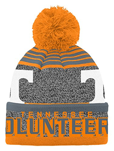 NCAA by Outerstuff NCAA Tennessee Volunteers Youth Boys Jacquard Cuff Pom Hat, Light Orange, Youth One Size -