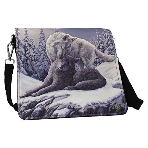 Embossed Snow Shoulder Parker Kisses 25cm Nemesis Now Bag Lisa by Oq5twB