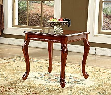 Shilpi Handicrafts Teak Wood Bedside Table Coffee Table End