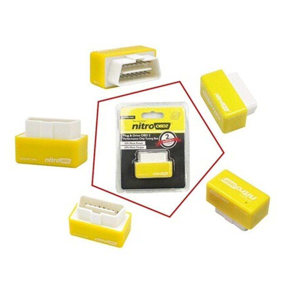 lymty Power Box Chip Tuning ECU Remapping Remap Leistungssteigerung Benzine Auto Auto-Kraftstoffoptimierung Mehr Leistung und Drehmoment OBD 2 STECKER UND ANTRIEB