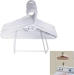 Evelots Hanger Organizer-Wall Mount/Free Standing-Laundry/Closet-Up To 50 Hanger