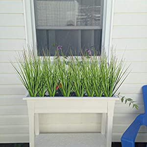 """27"""" Artificial Plants Onion Grass Greenery Faux Fake Shrubs Plant Flowers Wheat Grass for House Home Indoor Outdoor Office Room Gardening Indoor Décor 4"""