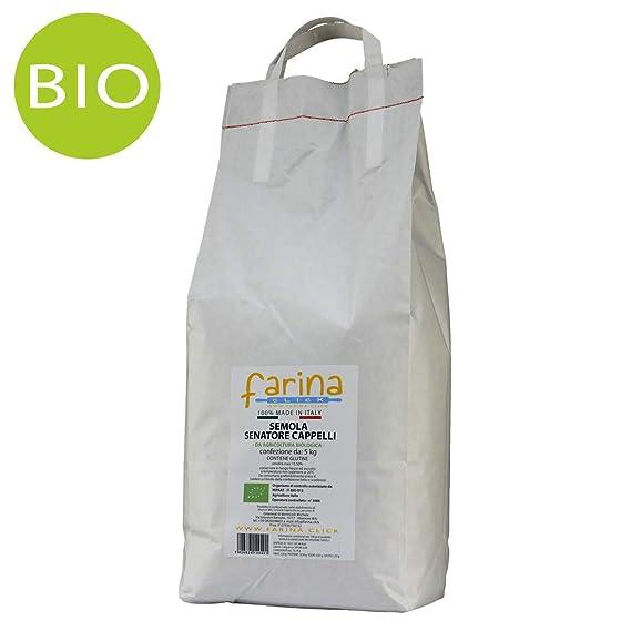 semola biologica di grano duro antico varietà Senatore Cappelli (confezione  da 5 kg)  Amazon.it  Alimentari e cura della casa ff16a44ee15e
