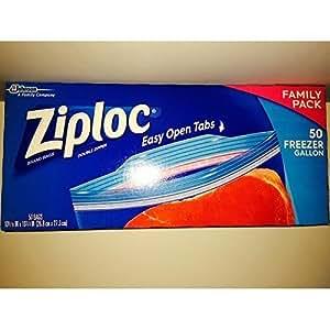 Ziploc Freezer Bag, Gallon 50 Count