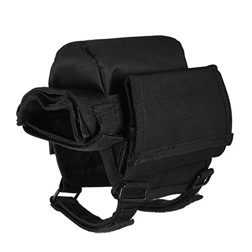 Adjustable Tactical Butt Stock Shotgun Cheek Rest Pouch Bullet Holder Bag by CLKJYF (Image #3)