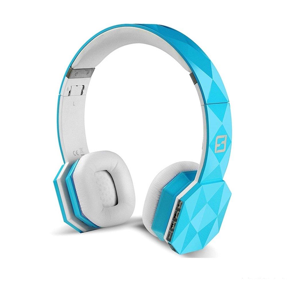 reetec Bluetoothワイヤレス折りたたみ式ステレオヘッドホンマイク付きover-ear v4 . 0ヘッドセットイヤホンfor iPhone iPad携帯電話ノートPCタブレットコンピュータ ブルー SH999B B06ZZNSJ8X ブルー ブルー