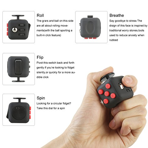 Fidget Cube,Vafru Mini Magic Cube anti irritability anxiety pressure finger hyperactivity decompression toy dice cube - 5
