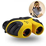 Three Ducks 8 X 21 Kids Binoculars for Children,Compact Telescope Boys Gifts 4-8 Years Old to Bird Watching Scenery Hiking Camping etc(Yellow) Review