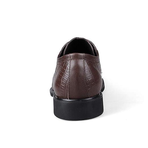 Jiuyue-shoes, Zapatos Oxford de los Hombres de Negocios, Zapatos Formales del Dedo del pie Redondo del cocodrilo clásico Simple Informal,Zapatos Oxford ...