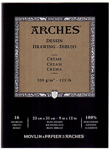 Arches Drawing Pad Cream (Cream) - 9 In. x 12 In. 1 pcs sku# 1845533MA