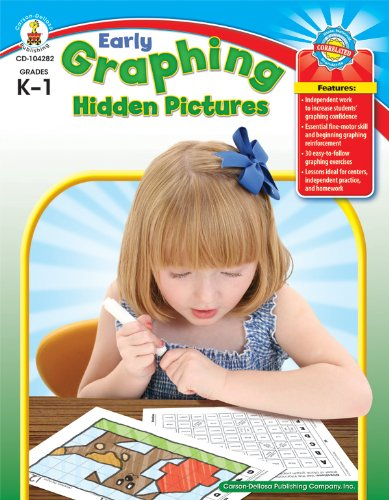 Early Graphing Hidden Pictures, Grades K - - Schaffer Frank Graphing