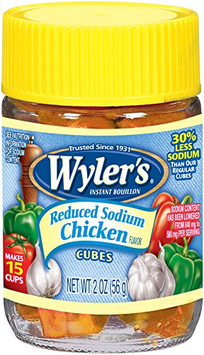 Wyler's Bouillon Reduced Sodium Chicken Cubes, 2 - Boullion Cubes