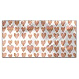 Tribal Hearts Rectangle Tablecloth: Medium Dining Room Kitchen Woven Polyester Custom Print