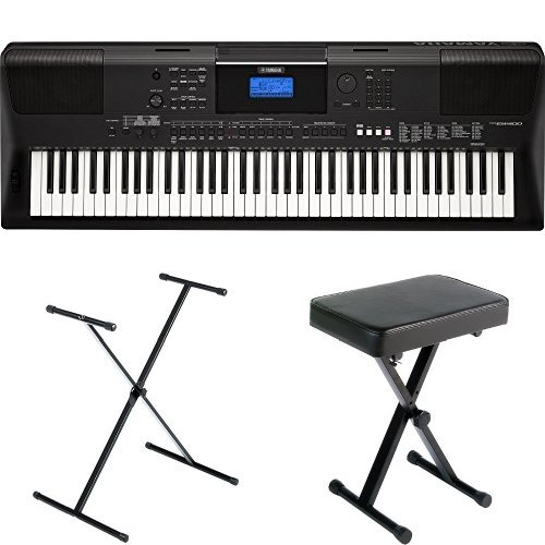 Yamaha PSREW400 76-Key Portable Keyboard withStand, Bench, and Power Supply (Speaker For Piano Yamaha)