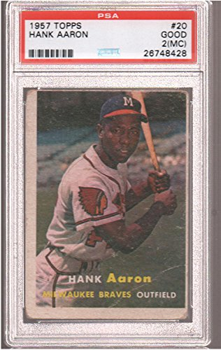 1957 Topps Regular (Baseball) Card# 20 Hank Aaron (psa) of the Milwaukee Braves Good Condition by Topps
