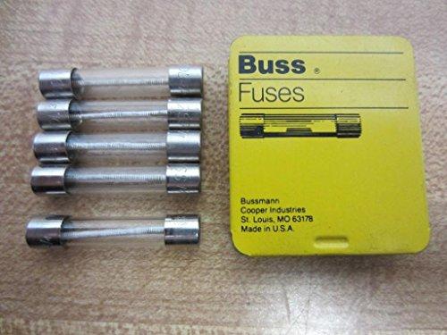 Bussmann MDL-3/4 Buss Fuse 3/4A 250V MDL34 (Pack of 5) Amp Mdl Slow Blow Fuse