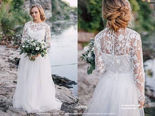 Amazon.com: Bridal Trendy Floral Dress, Engagement Simple ...