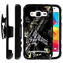 Samsung Galaxy Core Prime Case | Samsung Prevail LTE Holster Case by Untouchble [Heavy Duty Clip] Dual Layer Rugged Hybrid Armor [Kickstand] [Swivel Belt Holster Clip] - Tough Assault Rifle