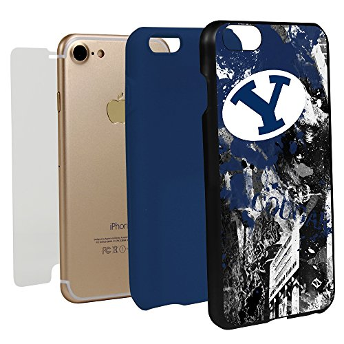 Guard Dog BYU Cougars Paulson Designs Spirit Case for iPhone 7/8 with Guard Glass Screen ()