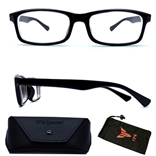 (#NS-101 Blk) Myopia Nearsighted Men Women Square Rectangular Shape Light Weight Driving Glasses Eyeglasses