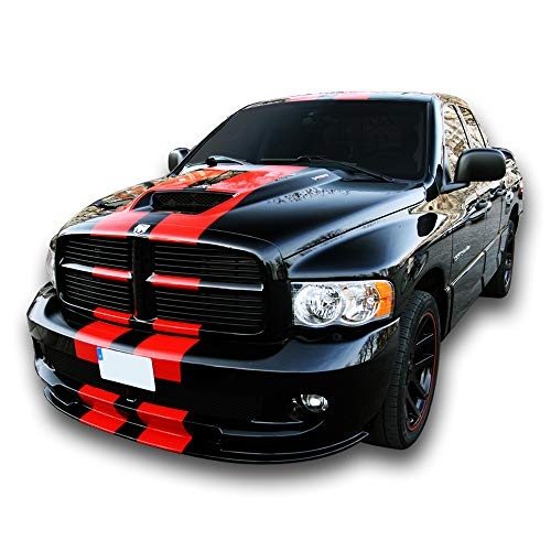 Bubbles Designs Decal Sticker Graphic Front to Back Stripe Kit Compatible with Dodge Ram SRT 1500 2500 -