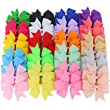 Boutique Grosgrain Ribbon Pinwheel Hair Bows Clips For Teens Kids Baby girls Headbands