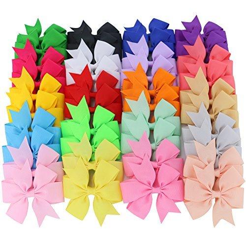 Boutique Grosgrain Ribbon Pinwheel Hair Bows Clips For Teens Kids Baby girls Headbands