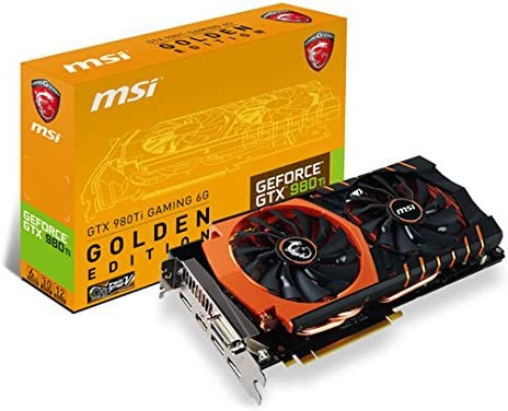 MSI GTX 980 Ti Gaming Golden Edition 6 GB Tarjeta gráfica: Amazon ...