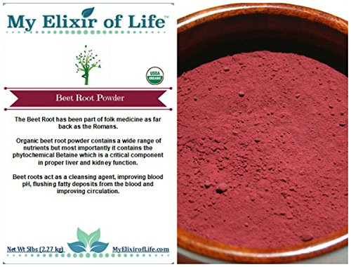 Organic Beet Root Powder - 5 lbs by My Elixir of Life, LLC