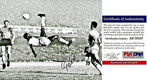 Pele Autographed Signed Bicycle Kick 16x20 Photo - Santos FC - Brazil Soccer Legend - Greatest Footballer of all Time - PSA Certificate of Authenticity (COA) ()