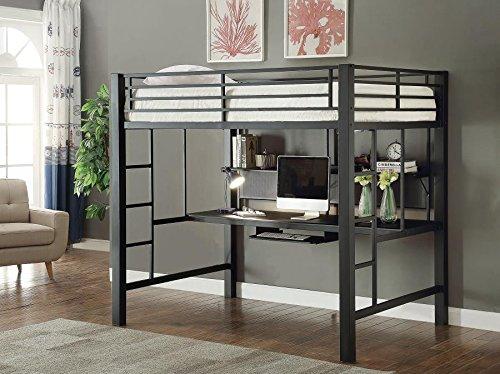 Avalon Full Workstation Loft Bed Black Buy Online In Uae