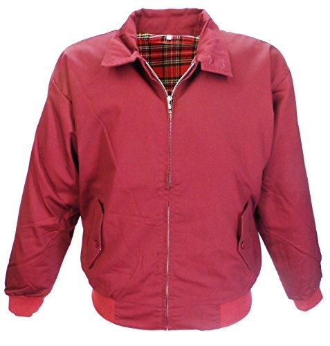 forro escoceses color tallas Relco de Navy rojo Chaqueta Granate Harrington XXXL cuadros XS YWxFqt