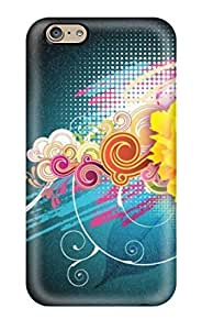 Durable Protector Case Cover With Attractive Free Vector Flower Hot Design For Iphone 6