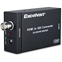 Excelvan HDMI to SDI Converter Scaler Adapter 1080P 1080I 720P 576I 480P MINI 3G with Coaxial Audio Output for Home Theater Cinema PC HD (Black)