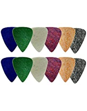 Ukulele Picks (12 Pack Multi Colors) - Uke Felt Pick Feltrum - Fits Hawaiian Uke Soprano Concert Tenor & Baritone by NewEights