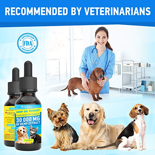 51gNjj6V0%2BL - CANNAVICO Hemp Oil Extract for Dogs & Cats - Anti-Anxiety Pet Formula - 100% Natural Ingredients - Hypoallergenic - Stress Sleep Aid -Made in USA