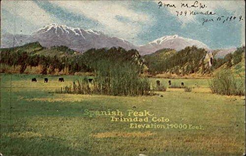 Spanish Peak, elevation 14,000 feet Trinidad, Colorado Original Vintage - Ft 14000