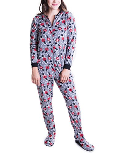 Caramel-Cantina-Juniors-Women-One-Piece-Zip-PJs-Footed-Adult-Onesie