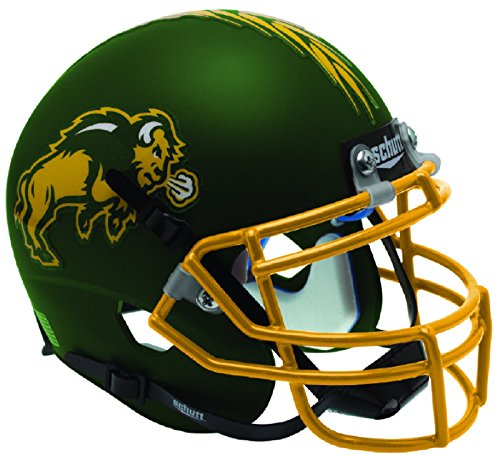 Schutt NCAA North Dakota State Bison Mini Authentic XP Football Helmet, Matte Green Alt. 1
