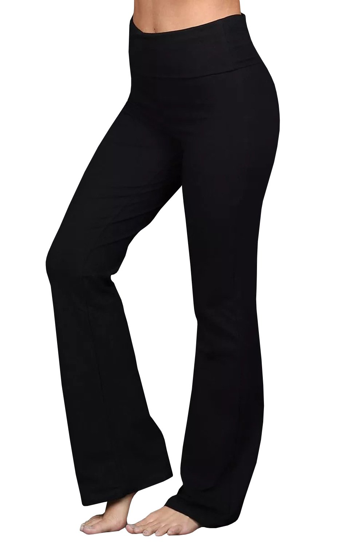 Bigyonger Womens Bootcut Yoga Pants High Waist Tummy Control Workout Trouser Leggings