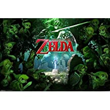 The Legend Of Zelda Forest Nintendo High Fantasy Action Adventure Video Game Series Poster - 18x12