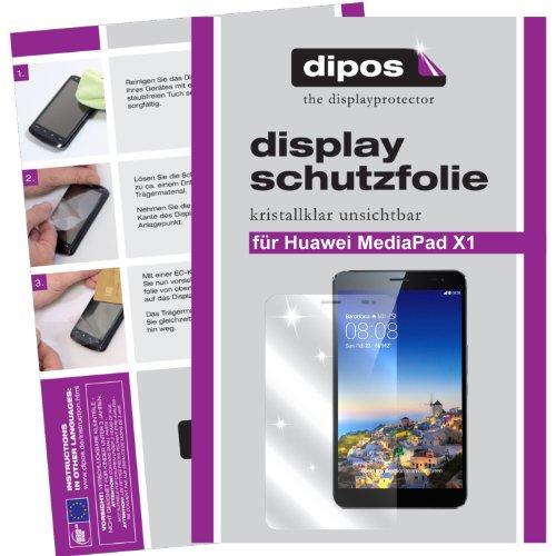 dipos Huawei MediaPad X1 7.0 Schutzfolie (2 Stück) - kristallklare Premium Folie Crystalclear