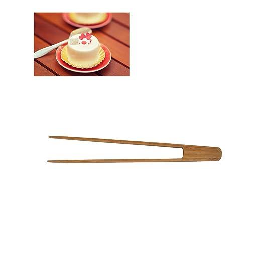 BESTONZON pinzas con Carmela (bambú - Pinzas de repostería larga y ...