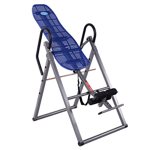 New Foldable ABS Inversion Table Gravity Therapy Back Pain Fitness Reflexology Blue by MTN Gearsmith (Image #1)