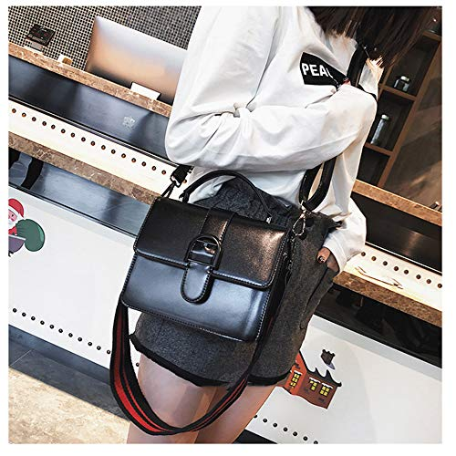 Bolsos Pequeño Diseñador Paquete Bolso Retro Hombro De Cuadrado Mujeres Embrague Black Mini Moda Crossbody qf7wSI
